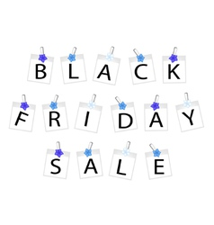 Black Friday of Photo Frames with Forget Me Not vector