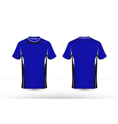 Blue black and white layout e-sport t-shirt design vector