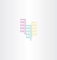 building icon symbol element vector image