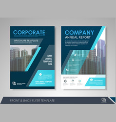 business brochure design template vector image