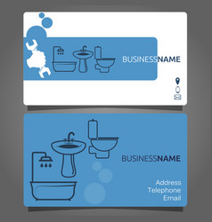 Plumber business card vector images 79 business card for plumbing services vector colourmoves