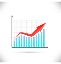 Business graph showing growth concept vector image