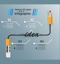 Business infographics pencil icon idea vector