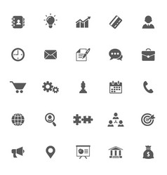 business related icon set vector image