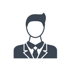 businessman glyph icon vector image