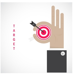 Businessman hand shows target symbol vector