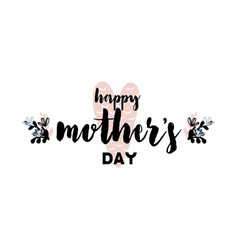 card with lettering happy mothers day vector image