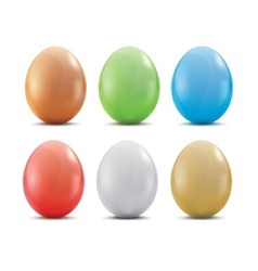 Colored easter eggs vector image