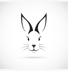 cute bunny with big ears vector image