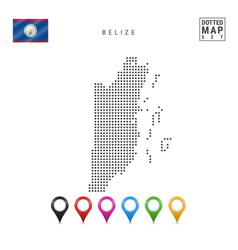 Dotted map belize simple silhouette belize vector
