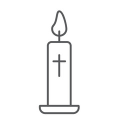 easter candle thin line icon light and easter vector image