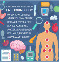 endocrinology laboratory research medical poster vector image