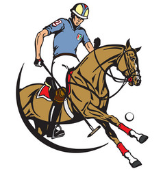 Equestrian polo club emblem vector