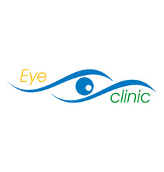 eye logo for ophthalmology clinic vector image