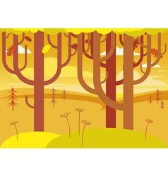 fantasy autumn landscape vector image vector image