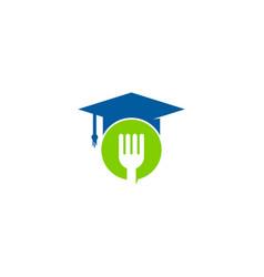 food education logo icon design vector image