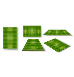 football field soccer pitch scheme top side vector image