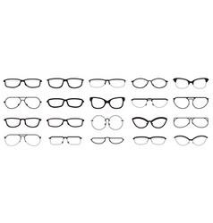 glasses frames eyewear silhouettes glasses vector image
