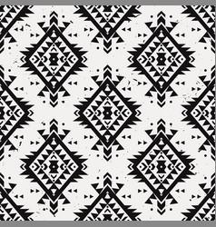 Grunge monochrome seamless decorative ethnic vector