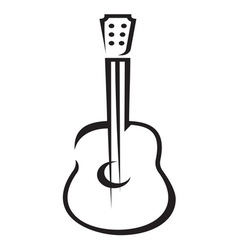 Guitar icon simple resize vector