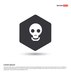 halloween skull icon vector image