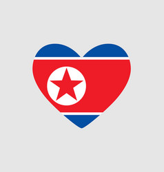 Heart of the colors of the flag of north korea vector
