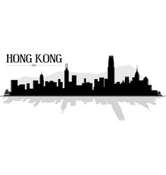 Hong kong china skyline silhouette vector