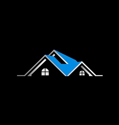 House realty sold roof logo vector