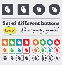 Human heart icon sign Big set of colorful diverse vector image