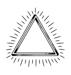impossible infinite triangle figure vector image