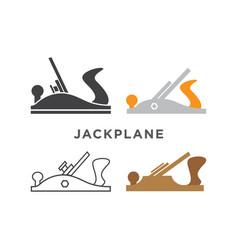 Jack plane logo design template vector