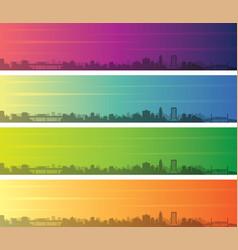 jacksonville multiple color gradient skyline vector image