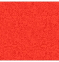 Line Red Grill Seamless Pattern vector