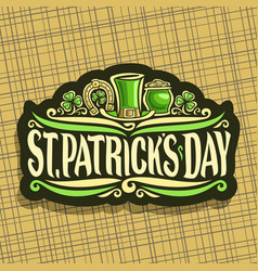 Logo for saint patricks day vector