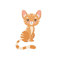 lovely striped red cat cute kitten animal pet vector image