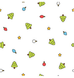 minimalistic christmas colorful pattern with vector image