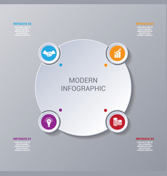 Modern infographic numbered 4 options vector