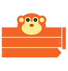 Monkey headband vector