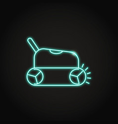 Neon smart pool cleaner icon in line style vector