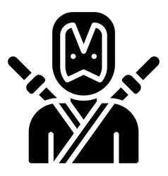 Ninja hero costume icon halloween costume party vector
