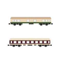 Passenger wagon vector