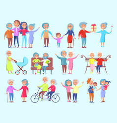 People of different age isolated vector