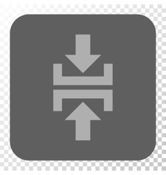 Press Vertical Direction Rounded Square Button vector