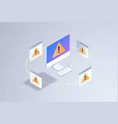 problem computer application software error vector image