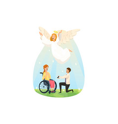 protection disability support wedding marriage vector image