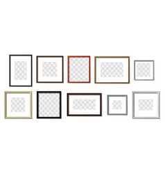 realistic photo frame simple picture frames vector image