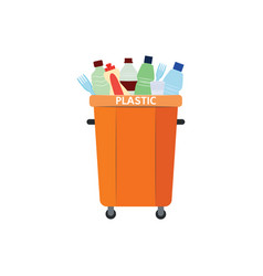 Recycle trash bin for vector
