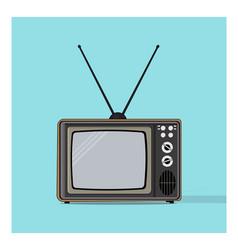 Retro vintage classic television vector