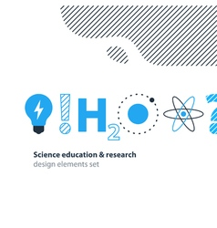 Scientific research science education icons set vector image