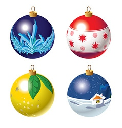 Set of Christmas baubles vector image
